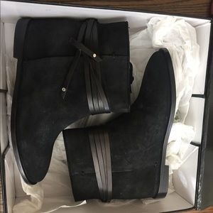 NWT suede Ankle boots & leather details